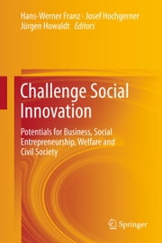 Challenge Social Innovation - Potentials for Business, Social Entrepreneurship, Welfare and Civil Society ebook by Hans-Werner Franz,Josef Hochgerner,Jürgen Howaldt