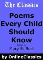 Poems Every Child Should Know ebook by Various