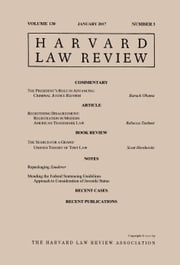 Harvard Law Review: Volume 130, Number 3 - January 2017 ebook by Harvard Law Review