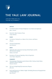Yale Law Journal: Volume 124, Number 4 - January-February 2015 ebook by Yale Law Journal