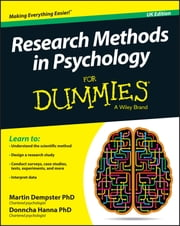 Research Methods in Psychology For Dummies ebook by Martin Dempster,Donncha Hanna