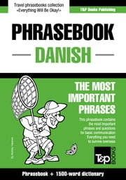 English-Danish phrasebook and 1500-word dictionary ebook by Andrey Taranov