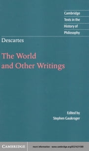 Descartes: The World and Other Writings ebook by Descartes, Reni