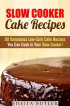 Slow Cooker Cake Recipes: 80 Sumptuous Low-Carb Cake Recipes You Can Cook in Your Slow Cooker! - Healthy Slow Cooker ebook by Sheila Butler
