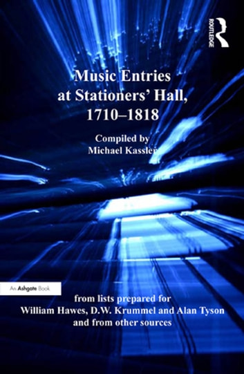 Music entries at stationers hall 17101818 ebook by michael music entries at stationers hall 17101818 from lists prepared for william fandeluxe Document