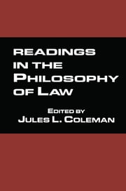 Readings in the Philosophy of Law ebook by Jules L. Coleman