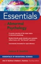 Essentials of Abnormal Psychology ebook by Andrew R. Getzfeld