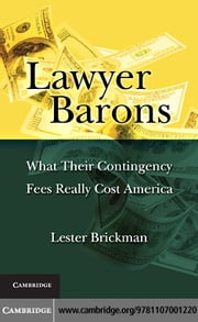 Lawyer Barons ebook by Brickman, Lester