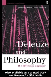 Deleuze and Philosophy ebook by Pearson, Keith Ansell