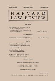 Harvard Law Review: Volume 131, Number 3 - January 2018 ebook by Harvard Law Review