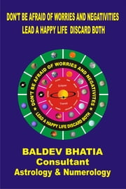 Don't Be Afraid Of Worries and Negativities ebook by Baldev Bhatia