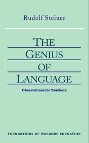 Genius of Language ebook by Rudolf Steiner, Christopher Bamford
