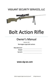 Bolt Action Rifle Owner's Manual ebook by Erik Lawrence