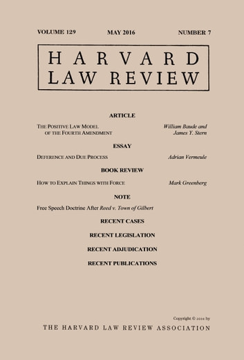 Harvard Law Review: Volume 129, Number 7 - May 2016 ebook by Harvard Law Review