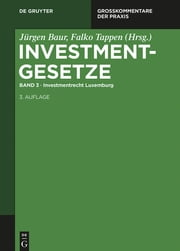 Investmentrecht Luxemburg ebook by Jürgen Baur