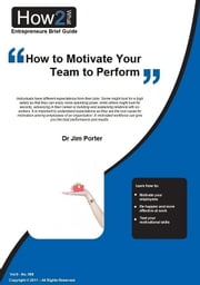 How to Motivate Your Team to Perform Better ebook by Dr Jim Porter