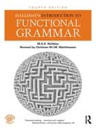 Halliday's Introduction to Functional Grammar 4th edition ekitaplar by M.A.K. Halliday, Christian M.I.M. Matthiessen