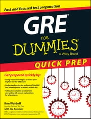 GRE For Dummies Quick Prep ebook by Ron Woldoff,Joseph Kraynak