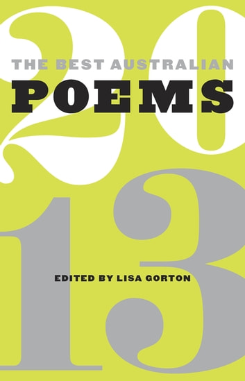 The Best Australian Poems 2013 ebook by
