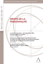 Droits de la personnalité - (Belgique) ebook by Kobo.Web.Store.Products.Fields.ContributorFieldViewModel
