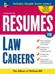 Resumes for Law Careers ebook by McGraw-Hill Education