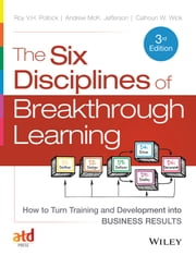 The Six Disciplines of Breakthrough Learning - How to Turn Training and Development into Business Results ebook by Roy V. H. Pollock,Andy Jefferson,Calhoun W. Wick