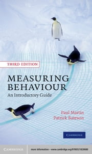 Measuring Behaviour - An Introductory Guide ebook by Paul Martin,Patrick Bateson