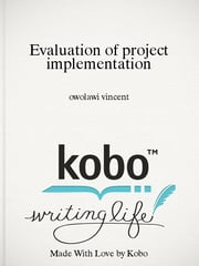 Evaluation of project implementation ebook by owolawi vincent
