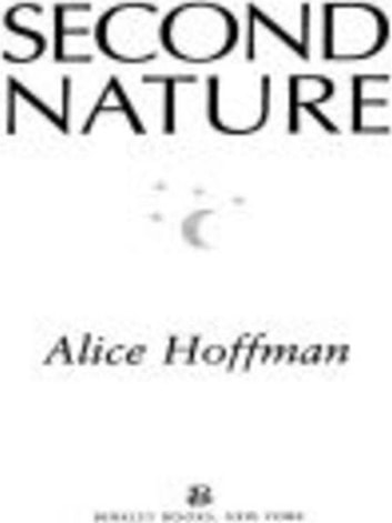 Second Nature ebook by Alice Hoffman