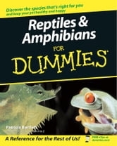 Reptiles and Amphibians For Dummies ebook by Patricia Bartlett