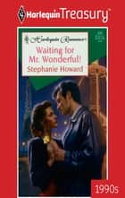 Waiting for Mr. Wonderful! ebook by Stephanie Howard