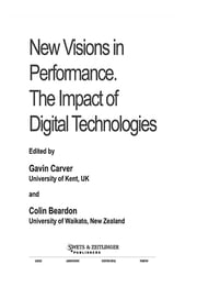 New Visions In Performance ebook by Gavin Carver,Colin Beardon
