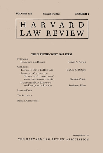 Harvard Law Review: Volume 126, Number 1 - November 2012 ebook by Harvard Law Review