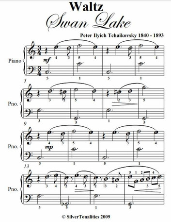 Waltz from swan lake easy piano sheet music ebook by peter for Piano dance music 90 s