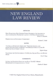 New England Law Review: Volume 49, Number 1 - Fall 2014 ebook by New England Law Review