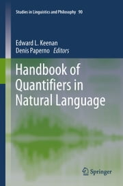 Handbook of Quantifiers in Natural Language ebook by