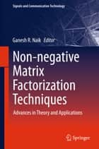 Non-negative Matrix Factorization Techniques ebook by Ganesh R. Naik