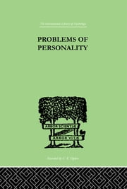 Problems of Personality - Studies Presented to Dr Morton Prince, Pioneer in American ebook by Campbell, C MacFie & Langfeld H S & McDougall, Wm &