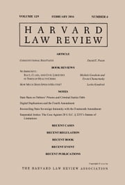 Harvard Law Review: Volume 129, Number 4 - February 2016 ebook by Harvard Law Review