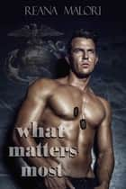 What Matters Most ebook by Reana Malori