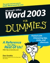 Word 2003 For Dummies ebook by Dan Gookin