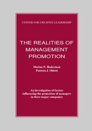 The Realities of Management Promotion ebook by Ruderman, Marian N.