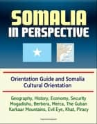 Somalia in Perspective: Orientation Guide and Somali Cultural Orientation: Geography, History, Economy, Security, Mogadishu, Berbera, Merca, The Guban, Karkaar Mountains, Evil Eye, Khat, Piracy ebook by Progressive Management