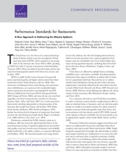 Performance Standards for Restaurants - A New Approach to Addressing the Obesity Epidemic ebook by Deborah Cohen, Rajiv Bhatia, Mary T. Story,...