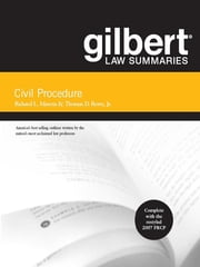 Gilbert Law Summaries on Civil Procedure, 17th ebook by Richard Marcus,Thomas Rowe Jr Jr
