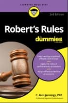 Robert's Rules For Dummies ebook by C. Alan Jennings PRP