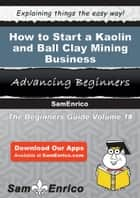 How to Start a Kaolin and Ball Clay Mining Business ebook by Deedee Amaya