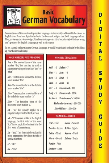 7377be1f3e4 German Vocabulary (Blokehead Easy Study Guide) ebook by The Blokehead