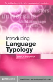 Introducing Language Typology ebook by Edith A. Moravcsik