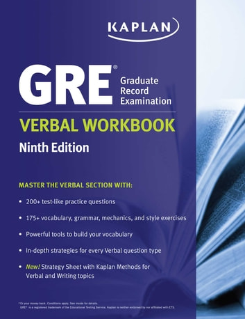 GRE Verbal Workbook ebook by Kaplan Test Prep